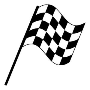 Nylon Checker Flag Black and White