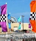 3 Piece Flagbanner with Checker Insert
